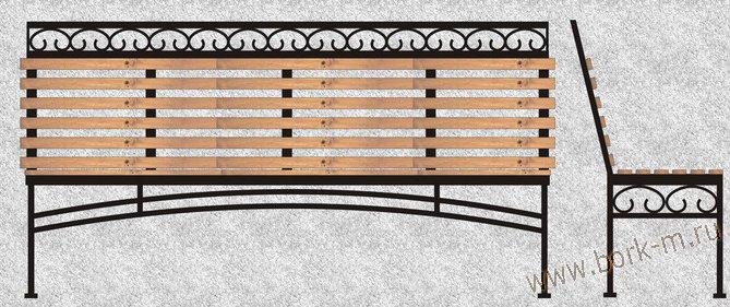 Скамейки из профиля чертежи фото