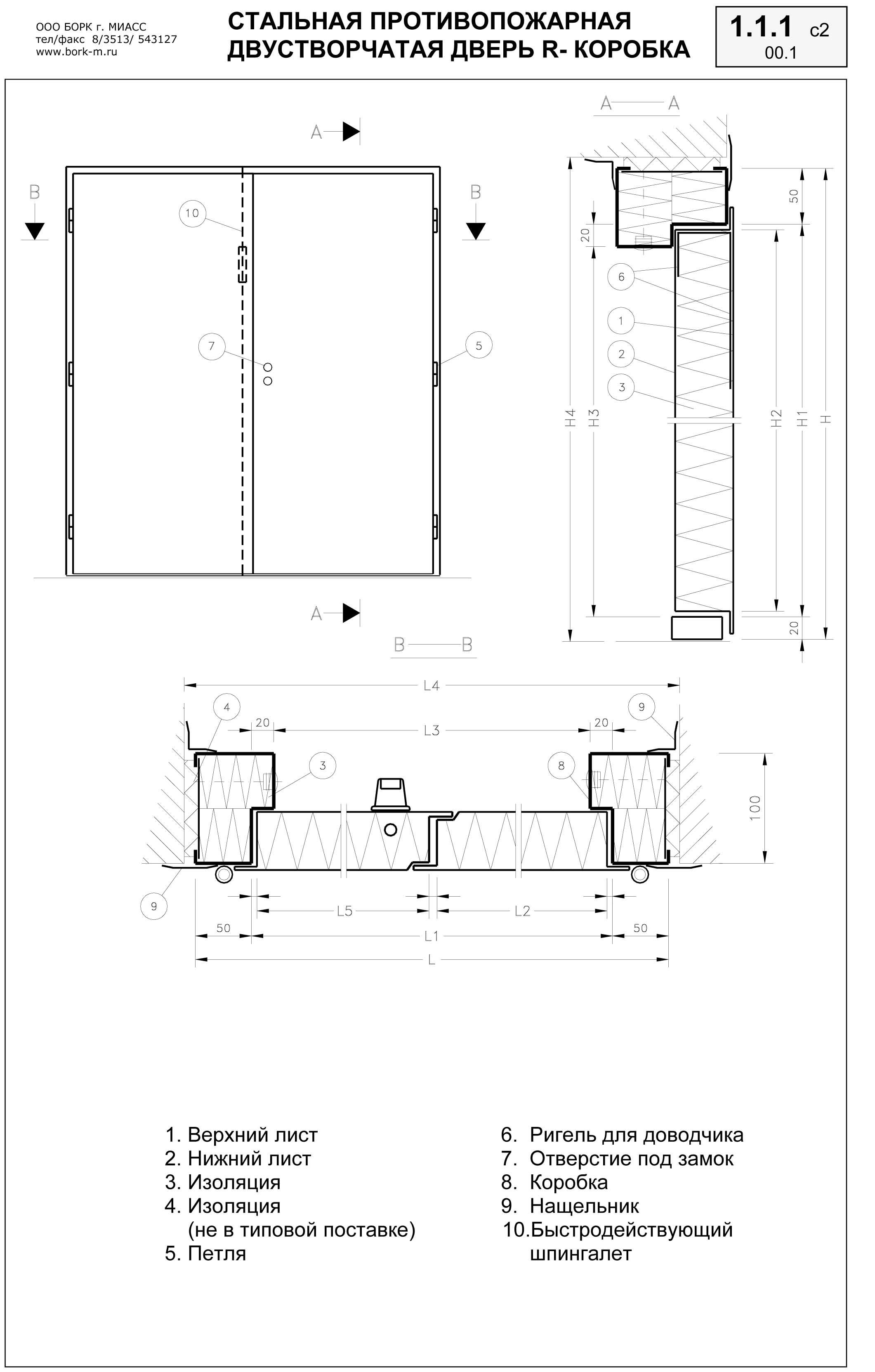 изготовление металлических дверей двупольных